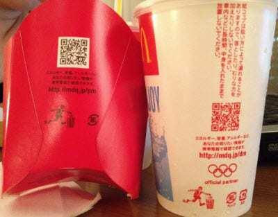 qr codes McDonalds Olympics