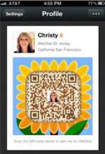 QR codes used by WeChat app to take steps into social media
