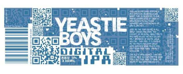 Yeastie Boys brewing company QR Code marketing campaign