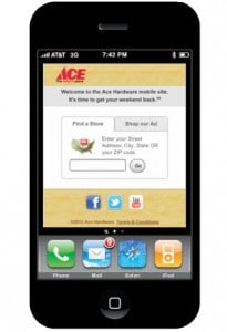 Mobile marketing success experienced by Ace Hardware