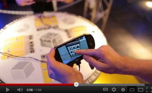 Augmented Reality from PS Vita Sony