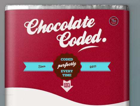 Chocolate Coded Website Preview - Augmented Reality