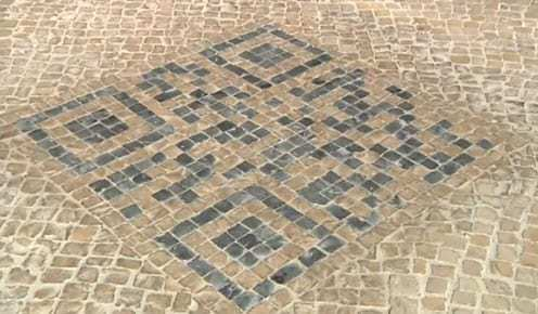QR Codes in cobblestone