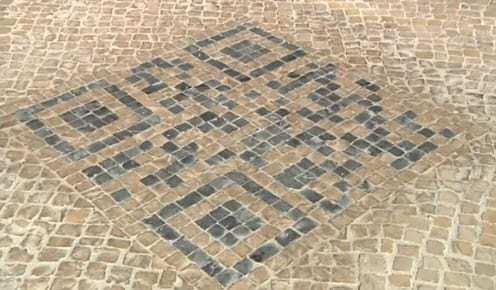 QR Codes in cobblestone