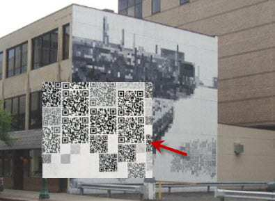 QR Code mural by Central New York arts group