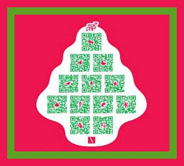 QR Codes used for holiday shopping promotions