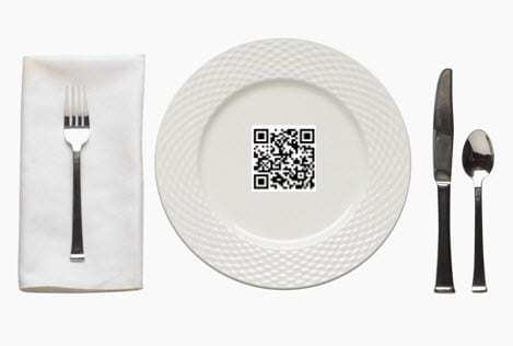 QR Codes use at restaurants