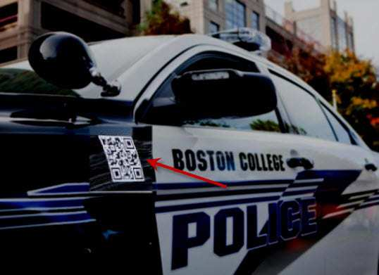 Boston College Police Department uses QR Codes