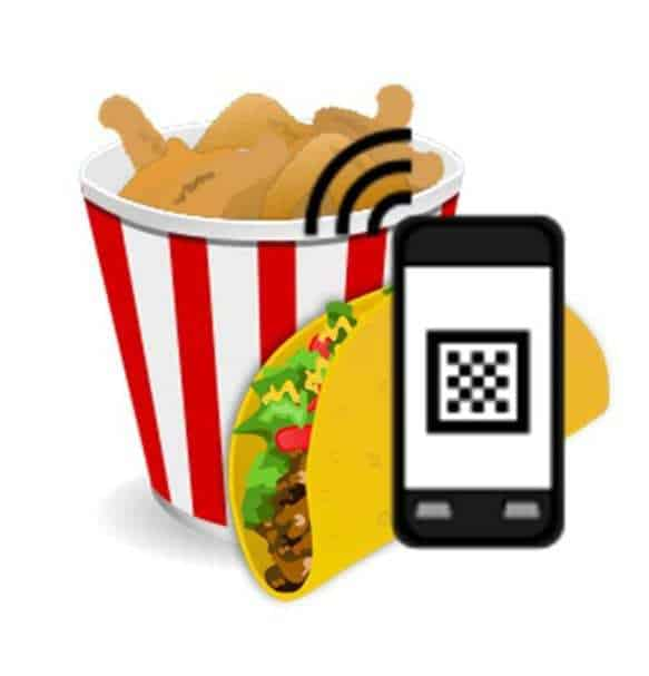 Fast Food QR codes google glass