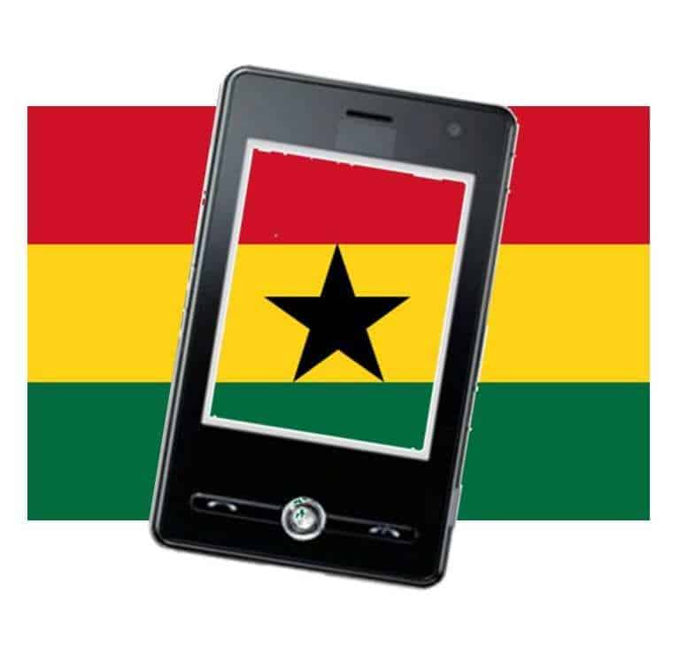 Ghana Flag Mobile Commerce