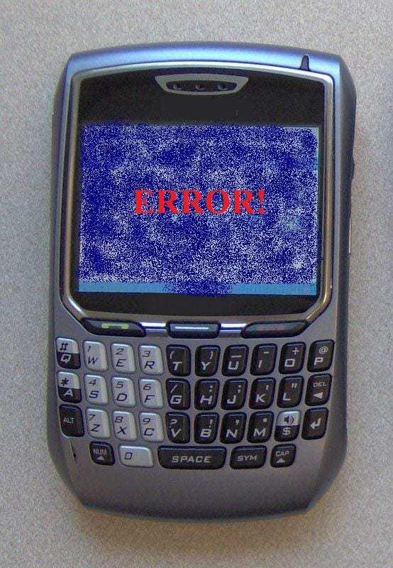 Mobile platform smartphone error