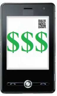QR codes and NFC technology used on tags to determine value of a smartphone