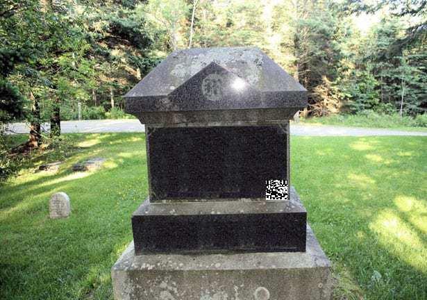 QR codes headstone