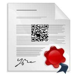 QR codes patent