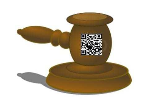 qr codes gavel law court