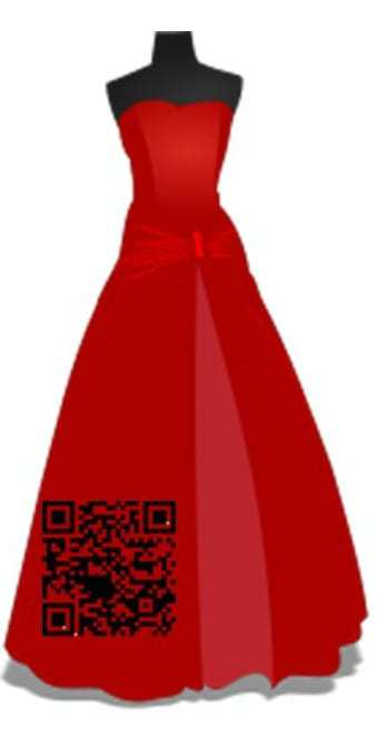 qr code clothing dress