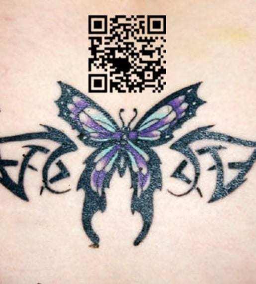 QR codes tattoo