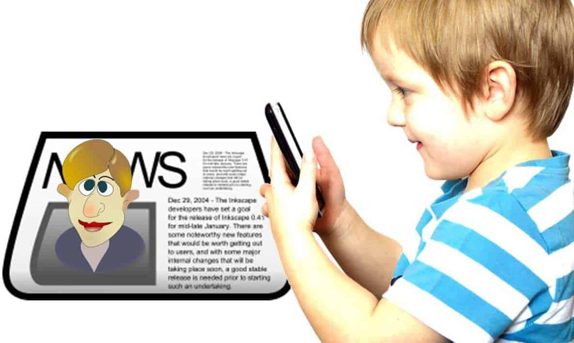 augmented reality newspaper for kids