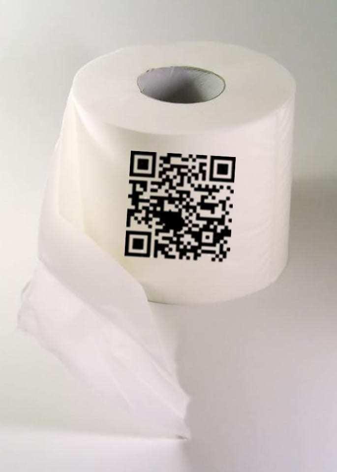 QR code feedback toilet paper