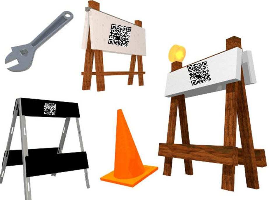 qr codes plan application notices