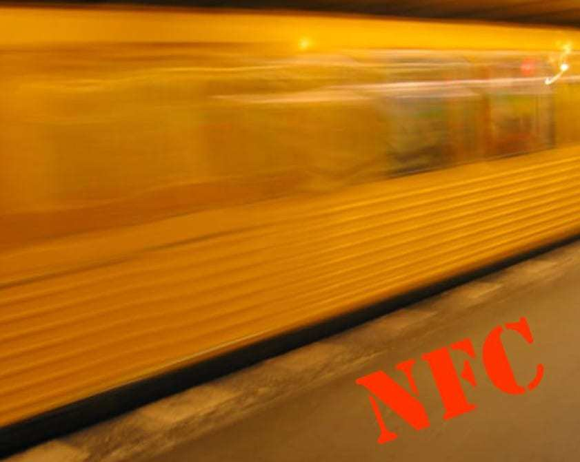 NFC technology metro train fare
