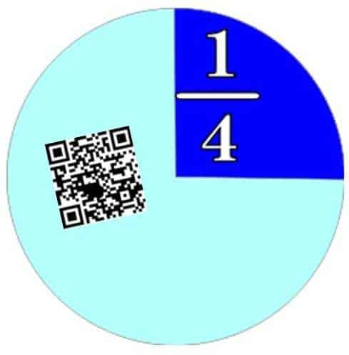 jenga qr codes to teach fractions