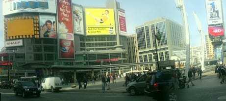 Yonge Dundas Square Augmented Reality Billboard