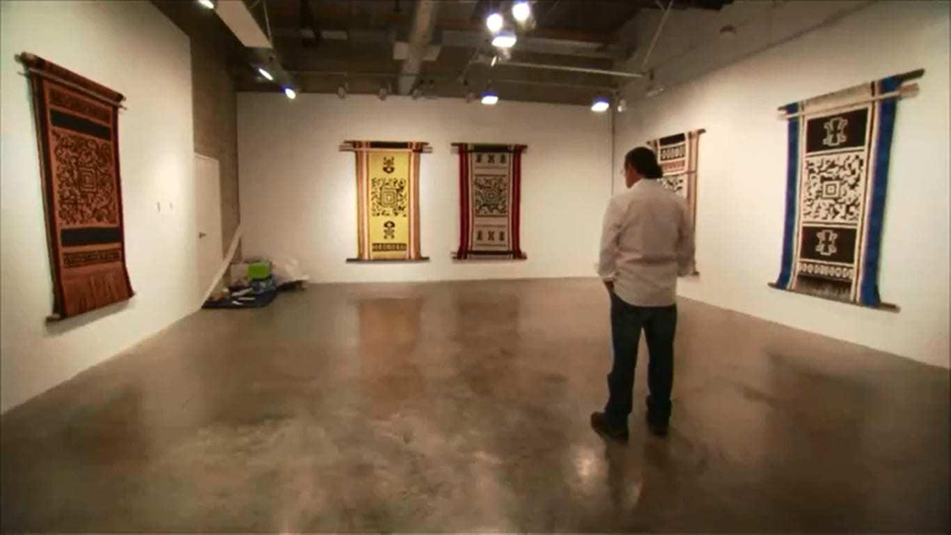 Guillermo Bert qr code tapestries