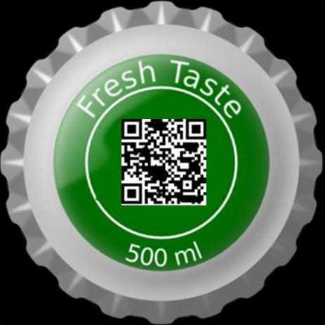 QR codes bottle cap