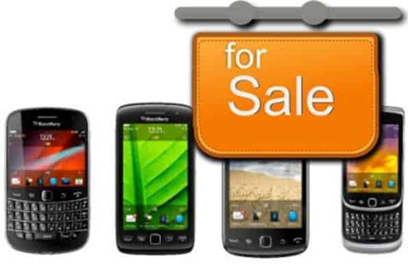 BlackBerry mboile technology sale