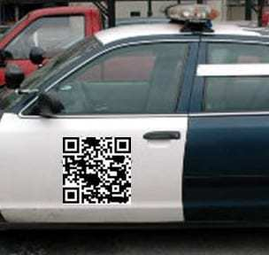 police car qr codes example
