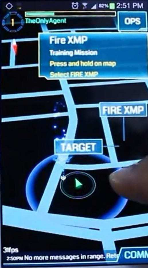 augmented reality ingress mobile game