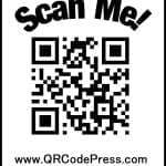 Halloween QR Code Press Scan Me