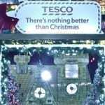 QR codes and augmented reality enhance Tesco Christmas display