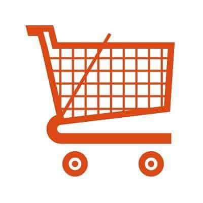 NFC technology tablet shopping cart