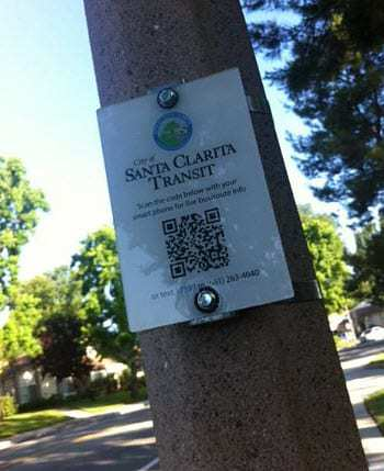 QR Codes used for transportation