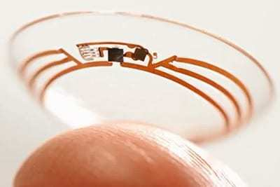 wearables mhealth google contact lenses diabetes