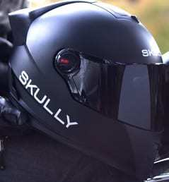 Skully motorcycle helmet wearable tech