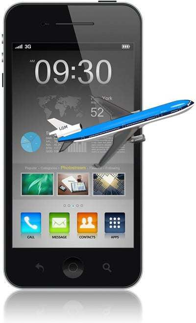 plane airline mobile technology