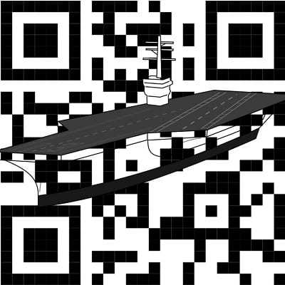 ship boat aircraft carrier qr codes