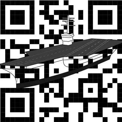 ship boat aircraft carrier qr codes