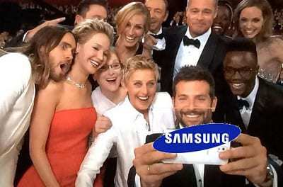 social media marketing oscars 2014 selfie