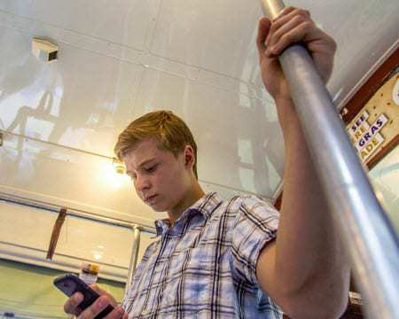 teen mobile payments texting train bus qr codes