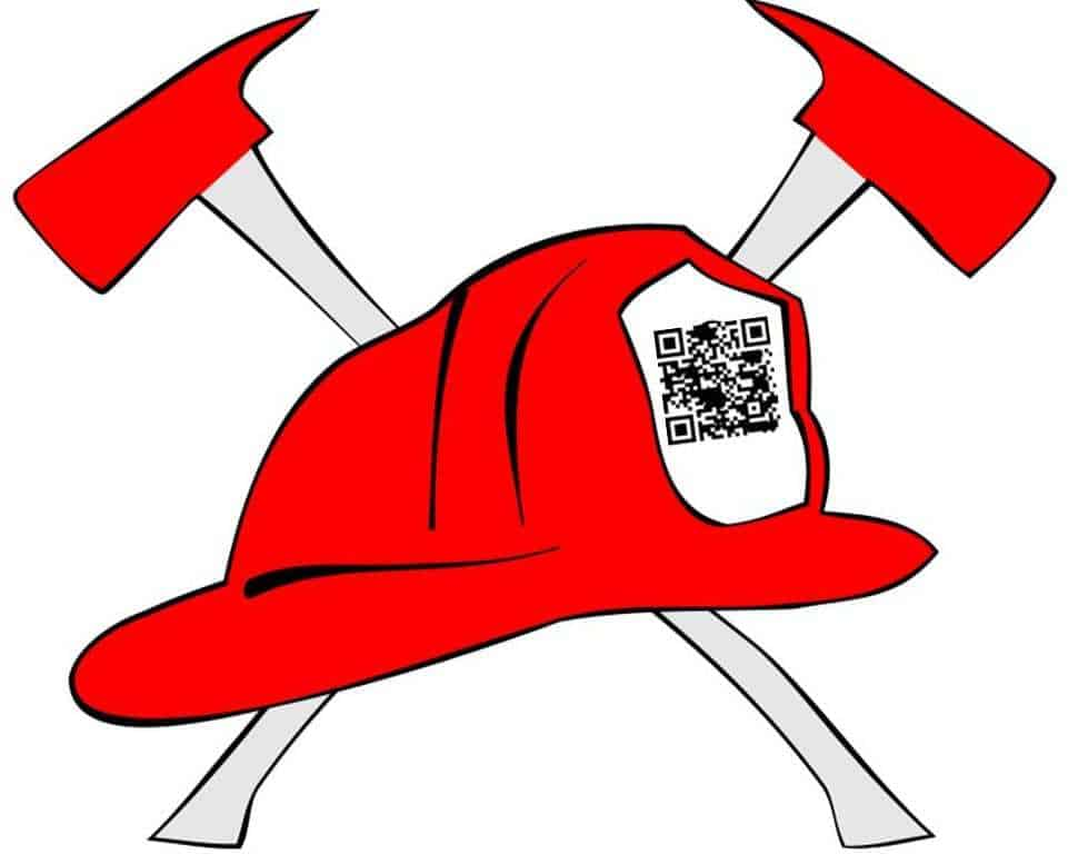 charity qr codes firefighter