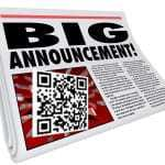 news QR code press release service