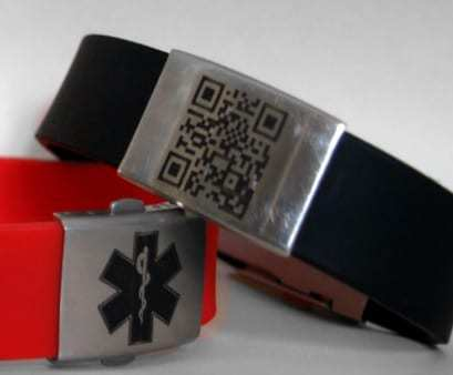 qr codes medical id bracelet - Resq scan