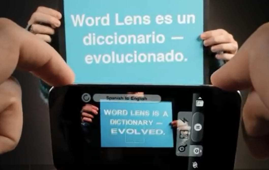 Augmented reality translation app World Lens