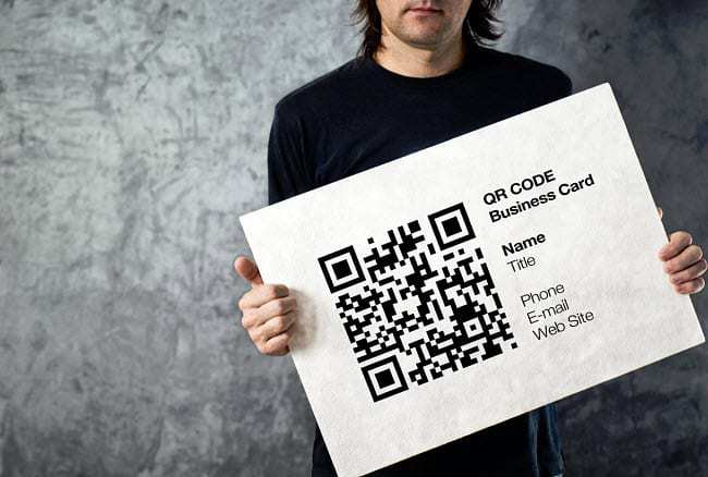 qr code business cards sign