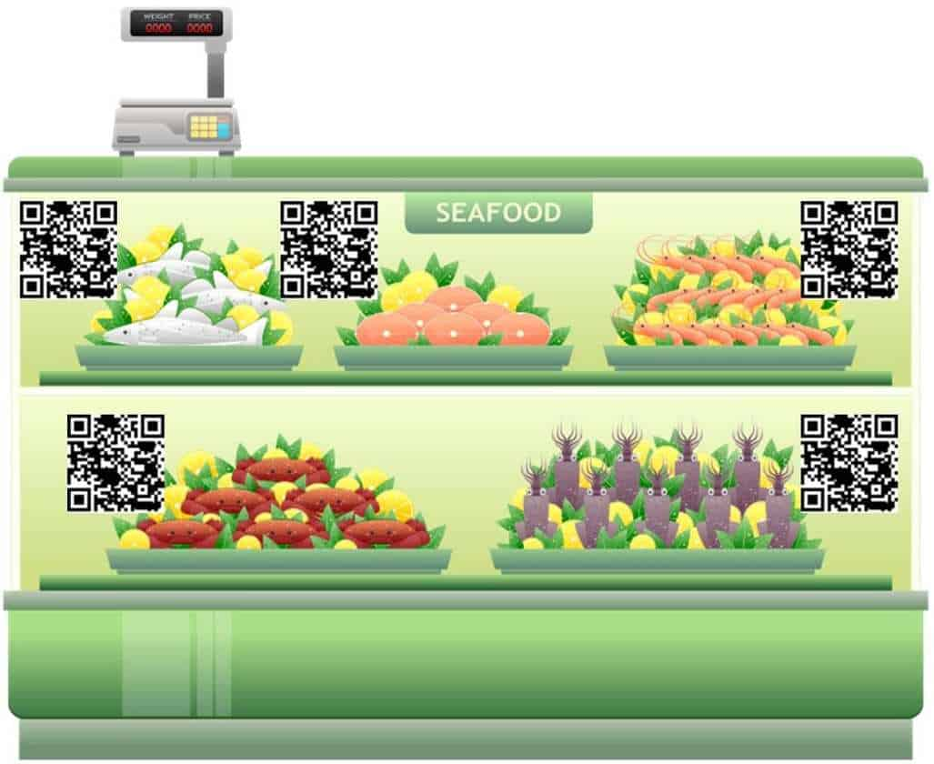 qr codes fish counter