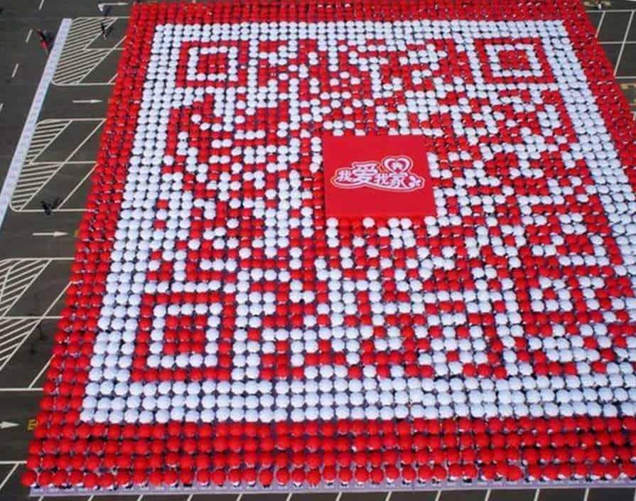 world record Coca-Cola QR codes